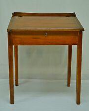 Antique Pine and Poplar Schoolmaster's Desk
