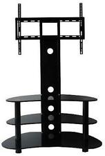 """Corner TV Stand With Bracket 32""""- 70"""" Flat Screen Black Glass Cantilever TV unit"""