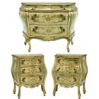 Commode, Bombe, Night Stands, Venetian Parcel Gilt, Painted, Vintage / Antique!!