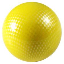 Carbon Fiber Arcade Stick Ball Top Sanwa Semitsu Mad Catz Hori Joystick - Yellow