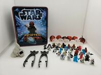 LOT OF 50 STAR WARS SQUINKIES FIGURES VEHICLE FIGHTER PODS & STORAGE TIN  MICRO