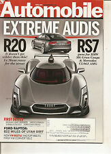 Automobile Apr 2013 - Ford Raptor - Audi R20 Audi RS7 - Cadillac XTS