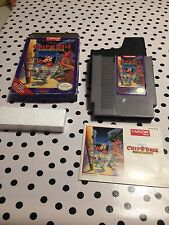 Disney's Chip 'N Dale: Rescue Rangers Nintendo NES, 1990 Complete in Box- Tested