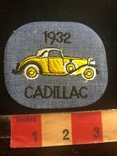 Denim Auto 1932 YELLOW CADILLAC Classic Car Advertising Patch 97YA