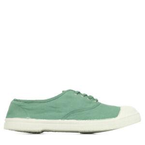 Chaussures Baskets Bensimon femme Tennis Lacet taille Vert clair Verte Textile