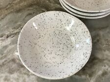 Large Pasta Bowls White With Gray Splatter. Set Of 4. New.