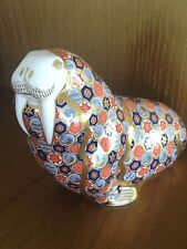 ROYAL CROWN DERBY WALRUS PAPERWEIGHT HOME DECOR GOLD STOPPER FIGURINE RARE