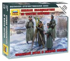 Zvezda  6232German Headquarters in Winter Uniform plastic kit without glue 1/72