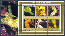 Mozambique 2002 Sea World. Fauna. Seahorse, s/sh + mini sheet. MNH