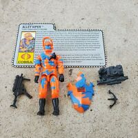 Vintage GI Joe Figure 1989 Alley Viper complete with file card