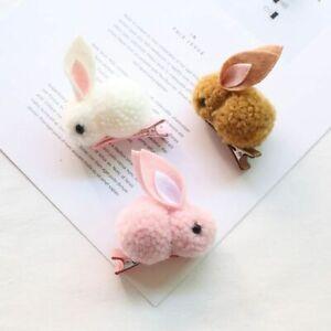 1pc Rabbit Barrette Stick Hairpins Cute Animal Ball Hairclips Women Hair Accesso