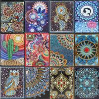 Mandala DIY 5D Special Shaped Diamond Painting Cross Stitch Kits A5 Notebook US