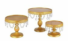 Vilavita 3-Set Antique Cake Stand Round Cupcake Stands Metal Dessert Display
