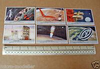 1950s Liebig L'Astronautique Space Cards x6 von Braun Space Station Mars Mission
