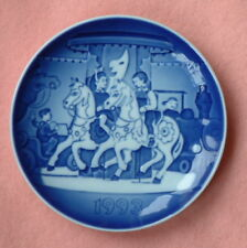 Bing & Grondahl 1993 Children's Day plate The Carousel with box