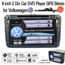 "8"" Car DVD Player GPS Navigation For Volkswagen VW 2007-2015 Passat Jetta+Map"