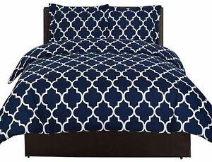 Utopia Bedding Navy Blue Queen Size Duvet Cover with 2 Pillow Shams