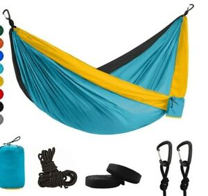 Outdoor Double Portable Person Camping Travel Parachute Nylon Hammock Swing Bed