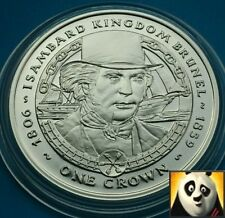 2006 FALKLAND ISLANDS 1 One Crown Isambard Kingdom Brunel Silver Proof Coin