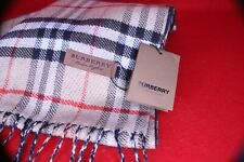 Burberry Long Reversible Vintage Classic Check Beige to Solid Black Scarf