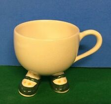 Carlton Ware Walking Tea Cup England Cream With Green Shoes Yellow Doted Socks