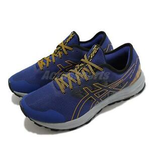 Asics GEL-Excite Trail Blue Yellow Grey Men Running Sports Shoes 1011B194-400