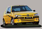 AUTO PEUGEOT 106 S16 -03, AUTO IN OROLOGIO MINIATURA