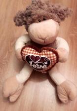 Schaf Schäflein Schäfchen mit braunem Herzchen 45 cm Kuscheltier Plüschtier NEU