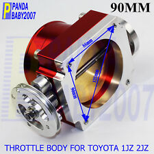 "3.5"" 90MM HIGH FLOW THROTTLE BODY OF TOYOTA 1JZ 2JZ FREE SHIIPPING TO USA RED"
