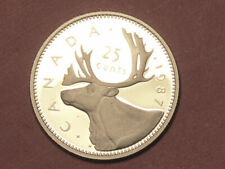 1987 Canada 25 cents proof      (lower your cost with combined shipping)