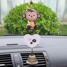 Monkey Auto Car Mirror Pendant Hanging Ornament Wind Chimes Yard Garden Decor
