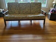 Mid Century Modern Ficks Reed Bamboo & Rattan Patio Furniture Sofa