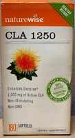 Naturewise CLA 1250 Exercise Enhancer Non GMO 1000 mg - 360 Softgels / 2 x 180
