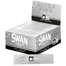 50 x Swan King Size Silver Ultra Fine Rolling Papers **FULL BOX of 50 pks**