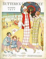 1920s Butterick Summer 1924 Quarterly Sewing Pattern Catalog 87 pg E-book on CD