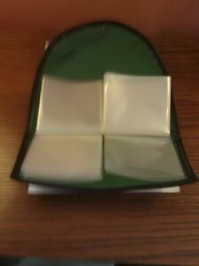 Green Double hook wallet with 20 pouches for hooks & hooks to nylon, NEW
