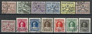 Vatican stamps 1929 YV 26-38  CANC  VF
