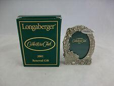 Longaberger Collectors Club 2001 Renewal Gift Nib