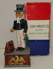 John Wright Co. Uncle Sam Mechanical Bank With Box
