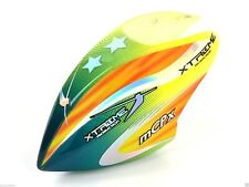 Xtreme MCPX020-GY Pre-Painted Canopy (Type C) MCPX -GREEN (w/ Tail Fin Sticker)
