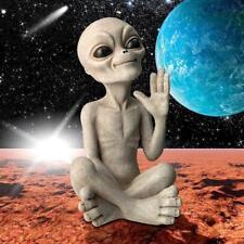 LY612303 - Greetings Earthlings UFO Alien Statue - Roswell Alien Statue