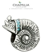 Genuine, CHAMILIA 925 Silver & Swarovski SEA SNAIL Charm HOLIDAY Travel