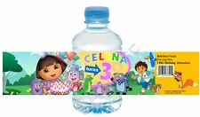 Dora the Explorer Water Bottle Wrappers - Birthday Party Favors - Set of 12