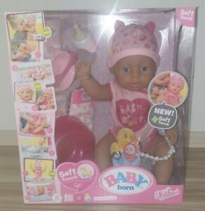 Zapf Creation Baby Born Soft Touch Girl Blue Eyes 43cm Puppe
