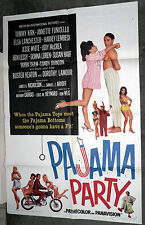 PAJAMA PARTY original poster ANNETTE FUNICELLO/MARY HUGHES/SUSAN HART/BOBBI SHAW
