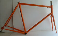 Handmade Ti Cycles steel Local Hero road frame, 58cm, orange, NAHBS