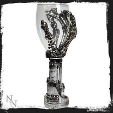 T-800 Terminator 2 hand GOBLET silver skull Movie Collectable Official glass