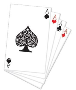 HAND OF PLAYING CARDS STAND UP - 1.52m Cardboard Cutout Casino Vegas Alice