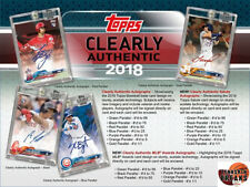 ATLANTA BRAVES 2018 Topps Clearly Authentic BASEBALL Hobby 1BOX Break