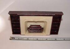 Vintage - Plasco - Bookshelf Fireplace Dollhouse Furniture, pre-owned